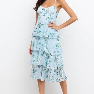 Yumi kim blue floral gallery dress
